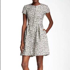 NWT Eliza J Nordstrom Zip Front Leopard Knit Dress